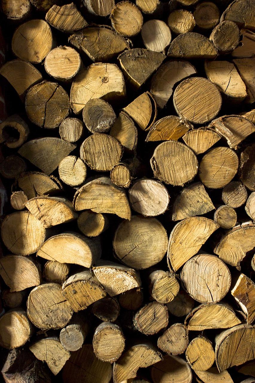 wood, chopped wood, axe